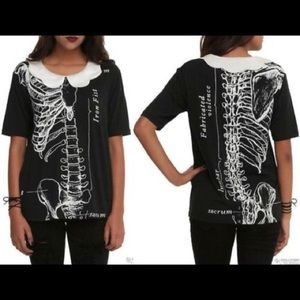 Iron Fist White Collar Skeleton T-shirt M